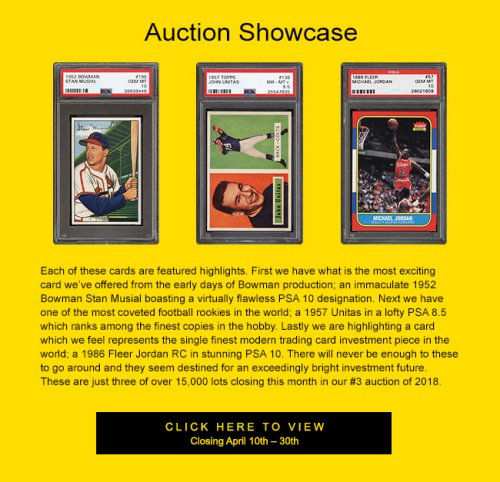 Pwcc Auctions 2018 Premier Auction 3 Of Graded Cards And