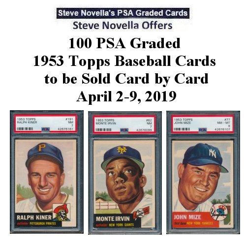 Steve Novella Offers 100 Psa Graded 1953 Topps Baseball Cards To Be
