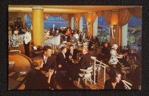 1960s Interior Crown Room Cocktail Lounge Atop Fairmont