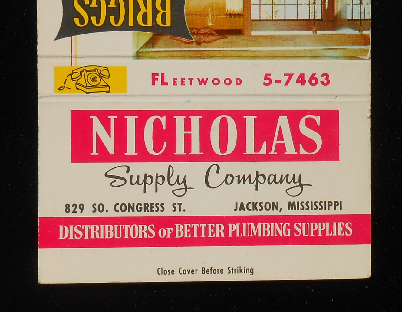 chair covers jackson ms graco high replacement harmony 1950s billboard matchbook briggs bathroom toilet nicholas