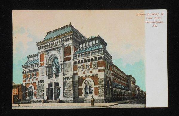1900s Academy Of Fine Arts Philadelphia Pa Postcard Pennsylvania