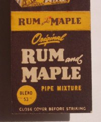 1950s Matchbook Original Rum and Maple Pipe Tobacco MB | eBay