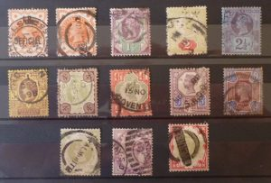 1 set of scarce Queen Victoria stamps Used 1/2d - 1/- (13 Stamps) 1880 - 1900