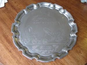 Metal Tray commemorating Rocket 1830-1980