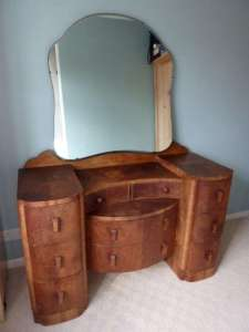 A Dressing Table with Large Mirror