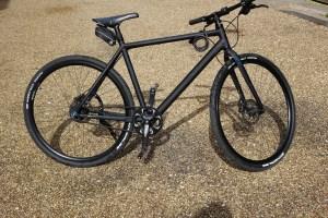 Lot 60 - Cube Hyde Black Hybrid Bike - Sold for £100
