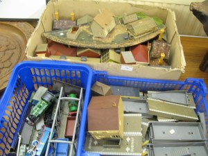 Lot 79 - Large collection of Hornby trains, rolling stock. buildings and scenery - Sold for £40