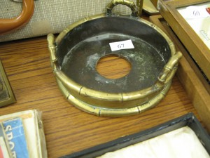 Lot 67 - Bronze Japanese Pot Stand. Sold for £75.