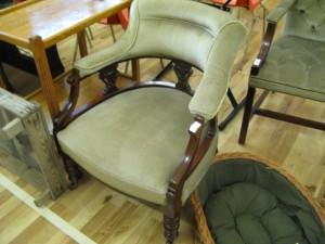 Velvet Upholstered Nursing Chair