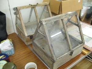 Lot 318 - Two Glazed Wooden Cloches