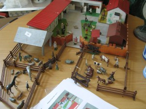 Lot 34 - Britains farmyard, animals and figures - Sold for £35