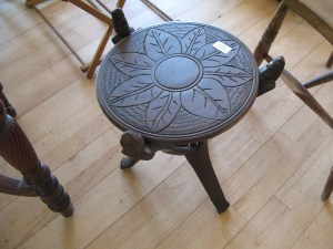 Lot 119 - African carved wooden side table - Sold for £28