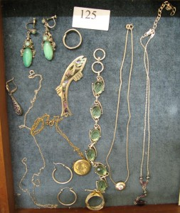 Lot 125 - A selection of silver jewelry - Sold for £50