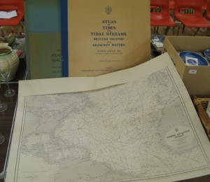 Lot 165 - A large collection of charts and Atlas of Tides and Tidal Streams - Sold for £80