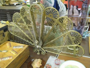 Lot 126 - Fan shaped folding fireguard - Sold for £45