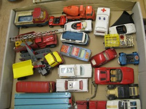 Lot 274 - Collection of Corgi, Dinky and others - Commercial vehicles and cars - Sold for £55