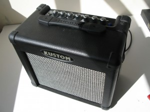 Kustom KGA 10FX Guitar Practice Amplifier 10 Watt amp with lead and rhythm settings with echo effect.