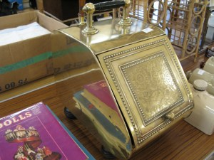 Lot 197 - Brass coal scuttle - Sold for £30