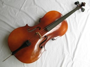"3/4 size Cello BH400 made by Boosey and Hawkes in Czechoslovakia. 44"" high. Bought 20 years ago but has had little use. New bridge partly fitted. String missing. In very good condition."