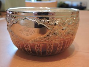 Lot 234 - Bowl London 1878 Charles Edwards solid silver - Sold for £90