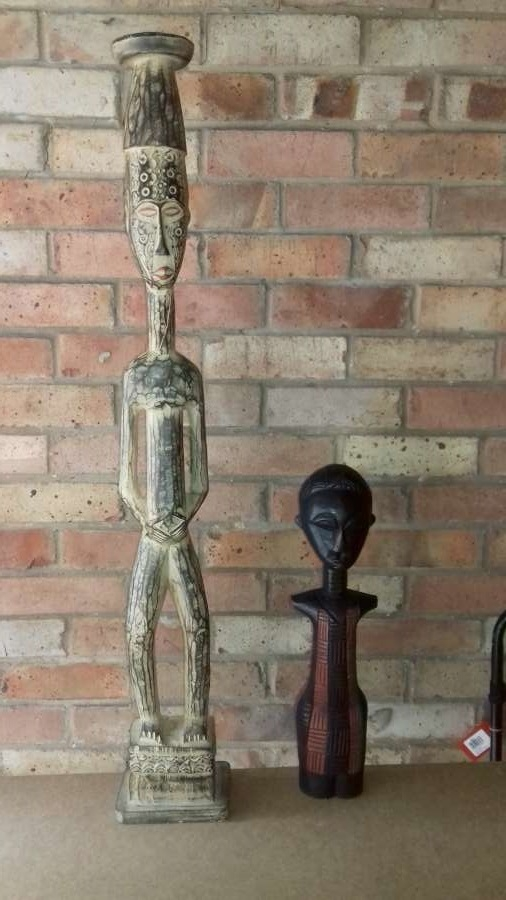 Two ethnic carved figures in wood