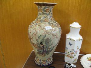 Lot 320 - Large Japanese Vase - Sold for £30