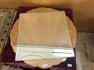 Lot 393 - Art Deco mirror - Sold for £37