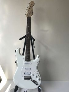 Squier Stratocaster by Fender White