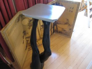 Lot 60 - Table top on two legs - Sold for £30