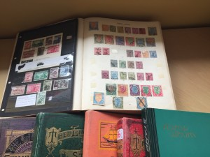Lot 479  - Collection of stamp albums - Sold for £95