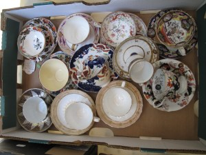 Lot 126 - Box of tea cups and saucers - Sold for £30