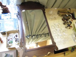 Lot 28 - Victorian rectangular mirror - Sold for £35