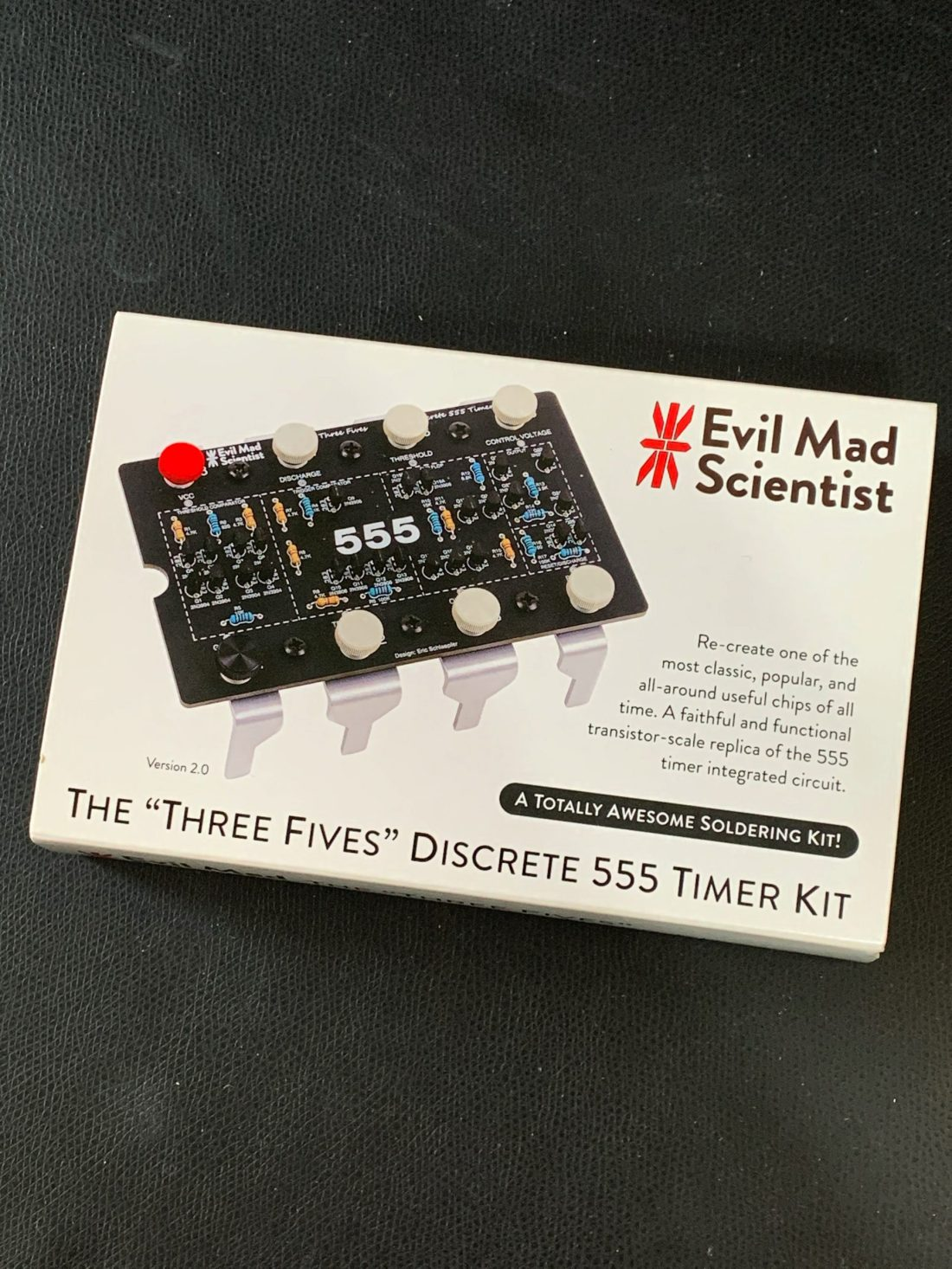 "The ""Three Fives"" Discrete 555 Timer Kit"