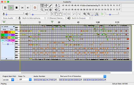 Audacity running on Mac OS X