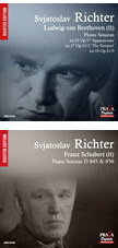 "BEETHOVEN: Piano Sonatas No. 23 ""Appassionata,"" No. 17 ""The Tempest"" and No. 18 – Svjatoslav Richter, piano – Praga Digitals    SCHUBERT: Piano Sonatas Nos. 17 and 16 – Svjatoslav Richter, p. – Praga Digitals"