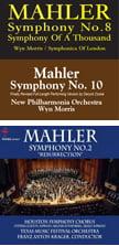 MAHLER: Symphonies 2, 8 & 10 – Wyn Morris – HDTT (2 audio-only Blu-rays)
