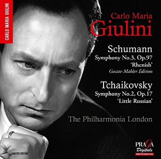 SCHUMANN: Symphony No.3; TCHAIKOVSKY: Symphony No.2 – Philharmonia Orchestra, Carlo Maria Giulini – Conductor – Praga Digitals Hybrid Stereo