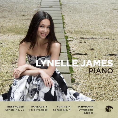 Lynelle James, piano = BEETHOVEN: Piano Sonata No. 28; ROSLAVETS: 5 Preludes; SCRIABIN: Piano Sonata No. 4; SCHUMANN: Symphonic Etudes, Op. 13 – Lynelle James, piano – Blue Griffin