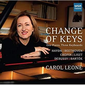 """Change of Keys"" = Piano Works by HAYDN; BEETHOVEN; CHOPIN; SCHUMANN/LISZT; DEBUSSY; BARTOK – Carol Leone, piano – MSR Classics"