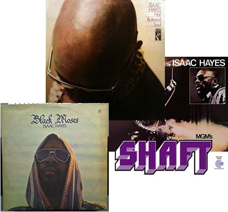 Isaac Hayes — Shaft, Hot Buttered Soul, Black Moses — Triple Release!