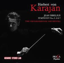 SIBELIUS: Symphony Nos. 5, 6, & 7 – Philharmonia Orchestra/ Herbert von Karajan – Praga Digitals
