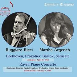 Martha Argerich and Ruggier Ricci Album Cover