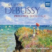 Hudson playing Debussy Preludes, album cover