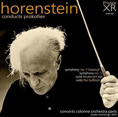 Horenstein conducts PROKOFIEV = Symphony Nos. 1 & 5; Suites – Concerts Colonne Orchestra Paris – Pristine Audio