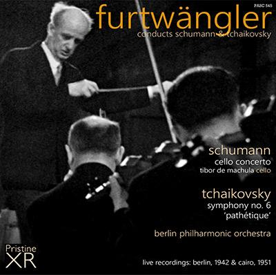 "Wilhelm Furtwängler:  SCHUMANN: Cello Concerto; TCHAIKOVSKY:  Symphony No. 6, ""Pathetique"" – Berlin Philharmonic – Pristine Audio"