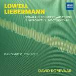 LOWELL LIEBERMANN: Piano Works, Vol 3 – David Korevaar – MSR