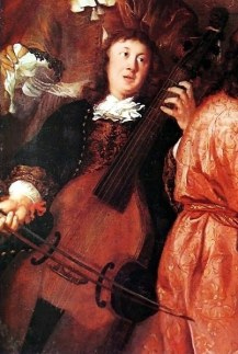 Portrait of Dietrich Buxtehude playing VIol, by Johannes Voorhout