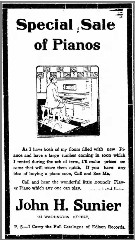 6/15/1910 Iowa City Press-Citizen newspaper ad: Pianos