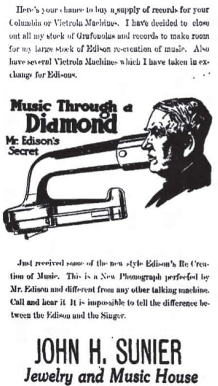 9/27/1916 Iowa City Press-Citizen newspaper ad: Talking Machine