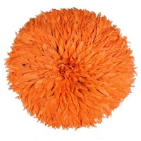 Feather Juju Hat Wall Dcor | Orange | Audenza